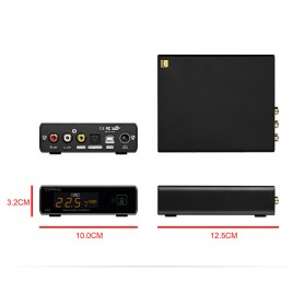Topping E30 32bit/768K DSD512 DAC Hi-Res Decoder Touch Operation with Remote Control - Black - 13