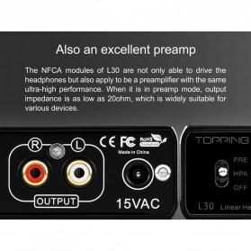 Topping L30 Headphone Amplifier Ultra Low Noise - Black - 5