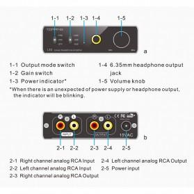 Topping L30 Headphone Amplifier Ultra Low Noise - Black - 8