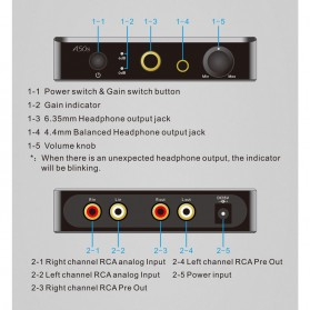 Topping A50s Headphone Amplifier Ultra Low Noise - Black - 6