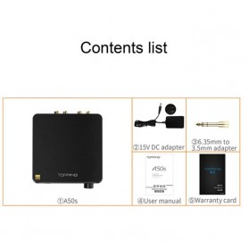 Topping A50s Headphone Amplifier Ultra Low Noise - Black - 7