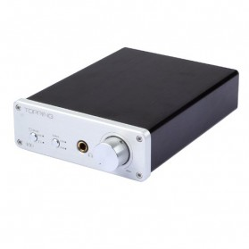 Topping VX1 Digital Amplifier TA2021 with DAC and Headphone Amp - Silver