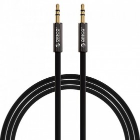 Orico Kabel AUX 3.5mm Male to Male 1M - XMC-10 - Black - 1