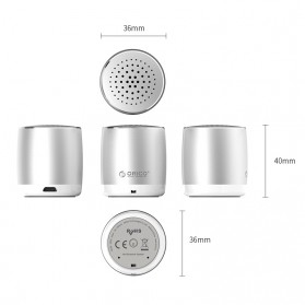 Orico Mini Portable Bluetooth Speaker - BS16 - Silver - 5