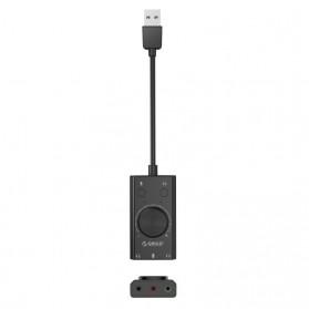 Orico Multifunction External USB Sound Card - SC2 - Black