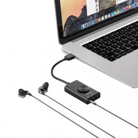 Orico Multifunction External USB Sound Card - SC2 - Black - 3