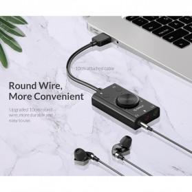 Orico Multifunction External USB Sound Card - SC2 - Black - 9
