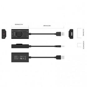 Orico Multifunction External USB Sound Card - SC2 - Black - 10