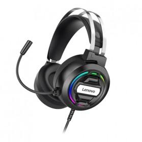 Lenovo Gaming Headphone Headset Over Ear 3.5mm + USB Wired - H401 - Black - 3