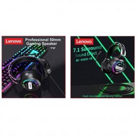 Lenovo Gaming Headphone Headset Over Ear 3.5mm + USB Wired - H401 - Black - 4