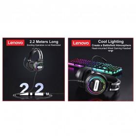 Lenovo Gaming Headphone Headset Over Ear 3.5mm + USB Wired - H401 - Black - 5