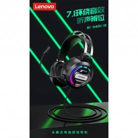 Lenovo Gaming Headphone Headset Over Ear 3.5mm + USB Wired - H401 - Black - 6