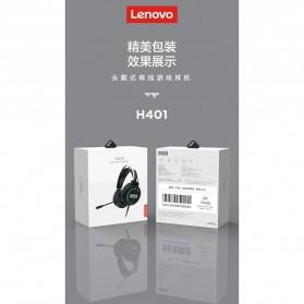 Lenovo Gaming Headphone Headset Over Ear 3.5mm + USB Wired - H401 - Black - 9