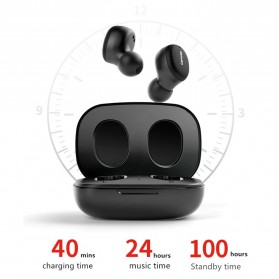 Lenovo Earphone TWS Bluetooth 5.0 Smart Touch with Charging Base - H301 - Black - 8