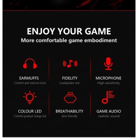 Lenovo Gaming Headphone Headset Super Bass with Mic - HU85 - Black - 7