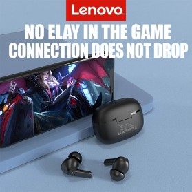 Lenovo TWS Earphone True Wireless Bluetooth 5.0 with Charging Dock - HT05 - Black