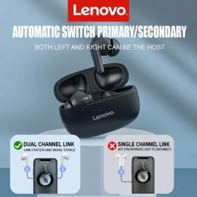 Lenovo TWS Earphone True Wireless Bluetooth 5.0 with Charging Dock - HT05 - Black - 4
