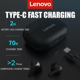 Lenovo TWS Earphone True Wireless Bluetooth 5.0 with Charging Dock - HT05 - Black - 5