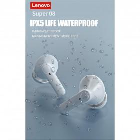 Lenovo TWS Earphone True Wireless Bluetooth 5.0 with Charging Dock - HT05 - Black - 10