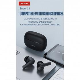 Lenovo TWS Earphone True Wireless Bluetooth 5.0 with Charging Dock - HT05 - Black - 14