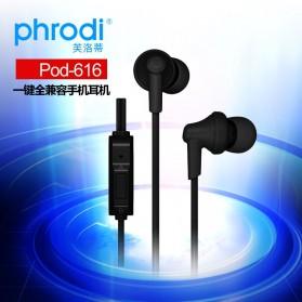 Phrodi 616 Earphone - POD-616 - Black - 8