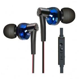 Phrodi 600 Earphone dengan Mic - POD-600 - Black/Blue