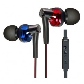 Phrodi 600 Earphone dengan Mic - POD-600 - Red/Black - 2