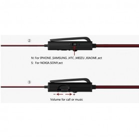 Phrodi 600 Earphone dengan Mic - POD-600 - Red/Black - 4