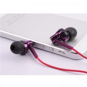 Phrodi 007P Earphone dengan Mic- POD-007P - Purple