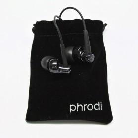 Phrodi 007P Earphone dengan Mic- POD-007P - Black - 4