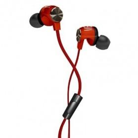 Phrodi M201 Earphone dengan Mic - POD-M201 - Red - 2