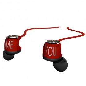 Phrodi M201 Earphone dengan Mic - POD-M201 - Red - 4