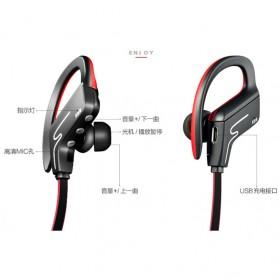 Phrodi Sport Bluetooth Earphone with Microphone - SP-6 - Orange - 4