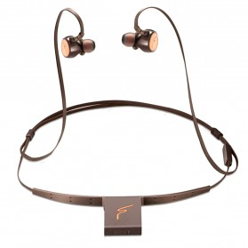 Phrodi Dual Dynamic Driver Bluetooth Earphone with Microphone - SP-7 - Brown - 1