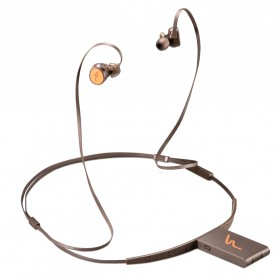 Phrodi Dual Dynamic Driver Bluetooth Earphone with Microphone - SP-7 - Brown - 2