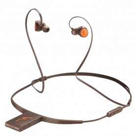 Phrodi Dual Dynamic Driver Bluetooth Earphone with Microphone - SP-7 - Brown - 3