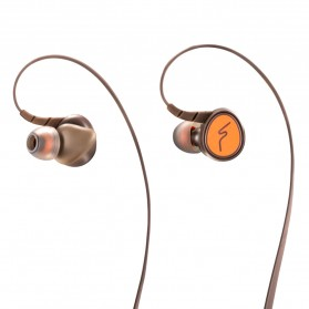 Phrodi Dual Dynamic Driver Bluetooth Earphone with Microphone - SP-7 - Brown - 4