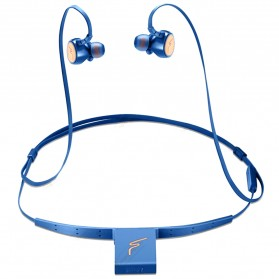 Phrodi Dual Dynamic Driver Bluetooth Earphone with Microphone - SP-7 - Blue