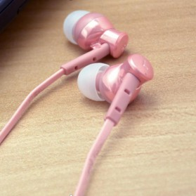 Phrodi 008 Deep Bass Earphone - POD-008 (NO BOX) - Pink