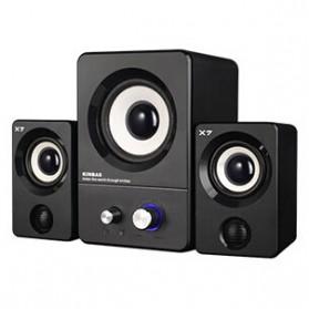Kinbas X7 Stereo Speaker 2.1 - Black