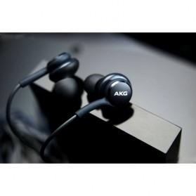 Earphone Headset Samsung Galaxy S10 Tune by AKG - EO-IG955 (Replika 1:1) - Black - 2