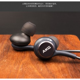Earphone Headset Samsung Galaxy S10 Tune by AKG - EO-IG955 (Replika 1:1) - Black - 3
