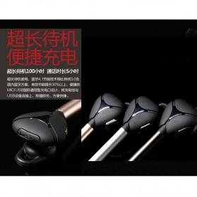 Remax Bluetooth Headset Handsfree- RB-T3 - Golden - 7