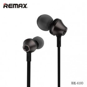 Remax Earphone with Microphone & Volume Control - RM-610D - Black