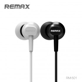 Remax Earphone with Microphone - RM-501 - Black - 2