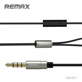 Remax Earphone with Microphone - RM-501 - Black - 3