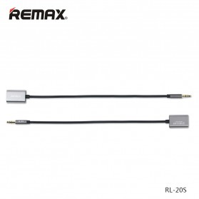 Remax Audio Splitter 3.5mm to 2 x 3.5mm Headphone - RL-S20 - Black