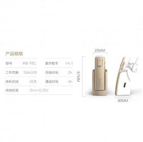 Remax Bluetooth 4.1 Car Speakerphone Wireless Headset - RB-T6C - Black - 7