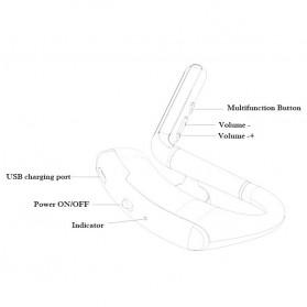 Remax Bluetooth 4.1 Wireless Headset Earphone - RB-T5 - Black - 4