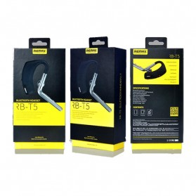 Remax Bluetooth 4.1 Wireless Headset Earphone - RB-T5 - Black - 5